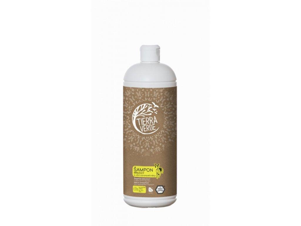 Tierra Verde Březový šampon na suché vlasy s citrónovou trávou (1 l)