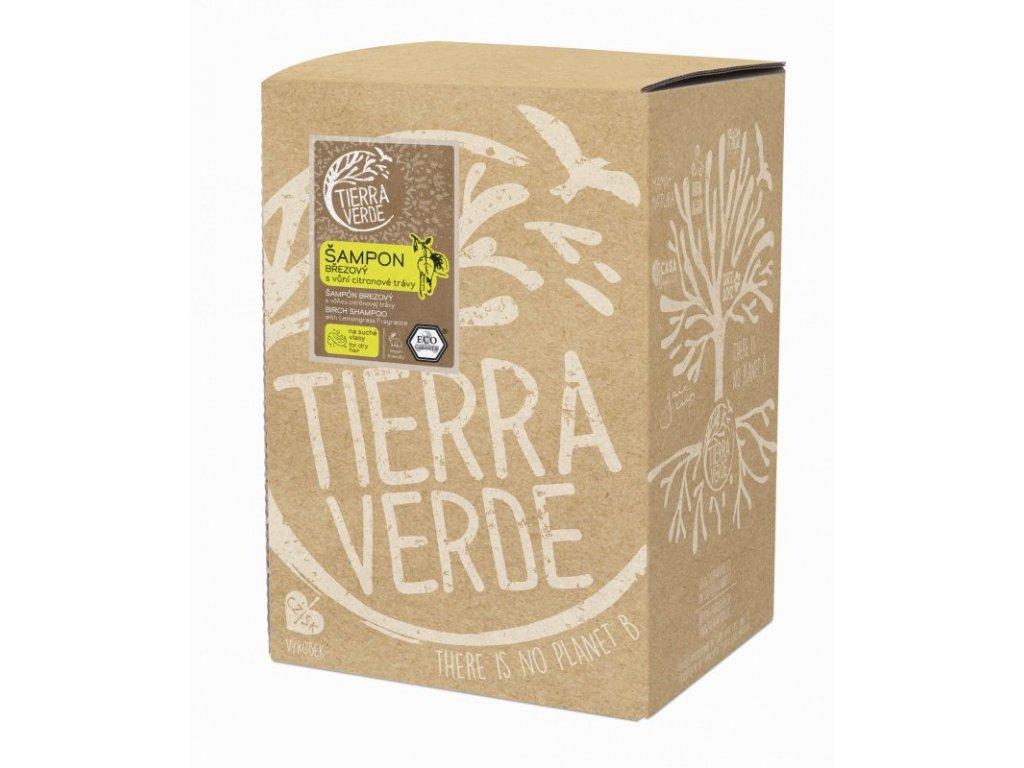 Tierra Verde Březový šampon na suché vlasy s citrónovou trávou (5 l)