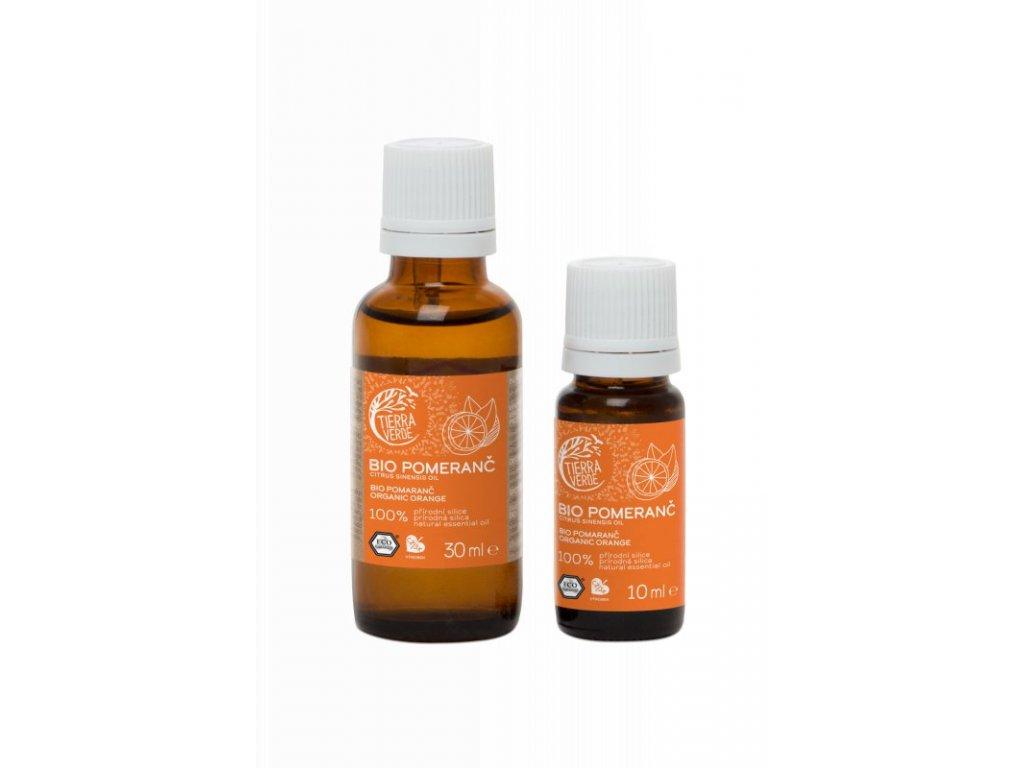 Tierra Verde Silice Pomeranč BIO (10 ml) - zlepšovač nálady