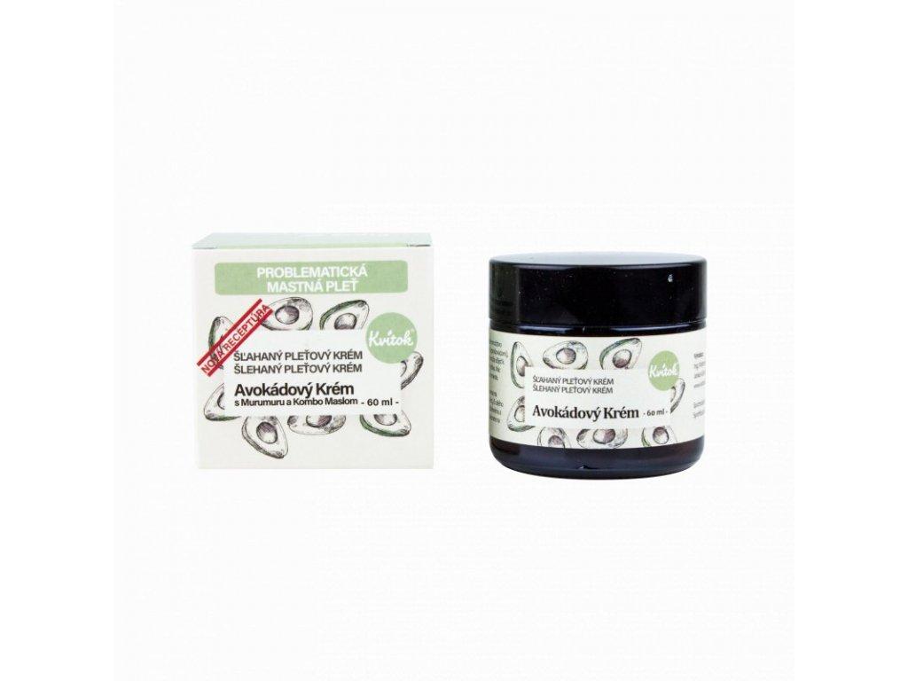 Kvitok Avokádový krém pro mastnou a problematickou pleť (60 ml) - nová receptura
