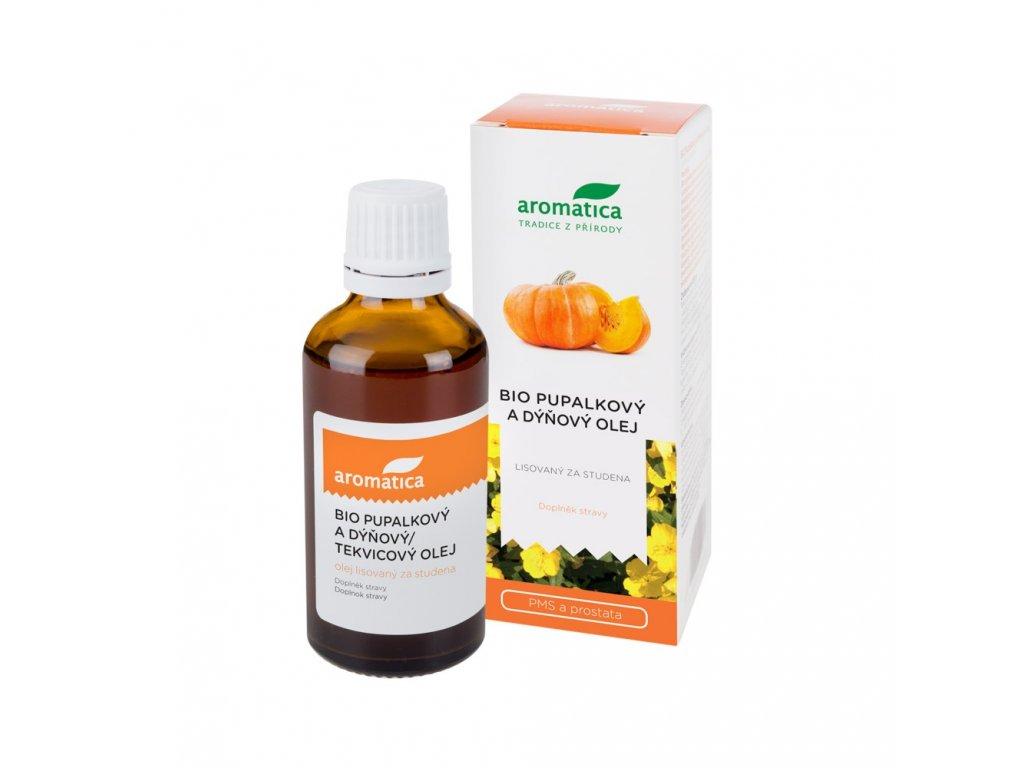 Pupalkový a dýňový olej