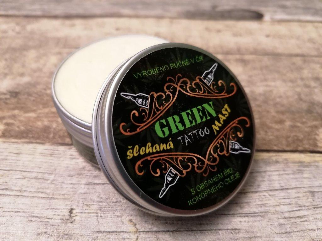 GREEN Mast tattoo našlehaný krém