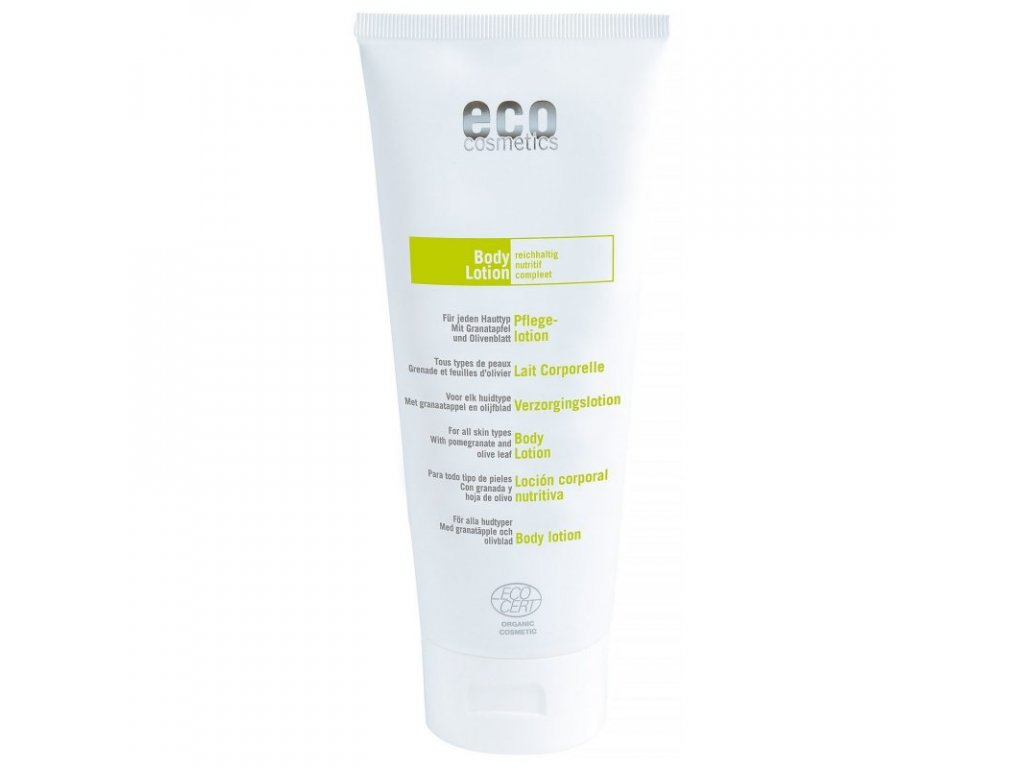 Eco Cosmetics Regener. tělové mléko BIO (200 ml) - s olivový olejem a granát. jablkem
