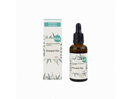 Kvitok Konopný pleťový olej nerafinovaný (50 ml) - zmírňuje ekzémy, regeneruje pleť