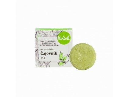 Kvitok Tuhý šampon s kondicionérem pro mastné vlasy Čajovník (25 g) - s rostlinným keratinem