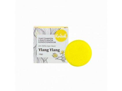 Kvitok Tuhý šampon s kondicionérem pro světlé vlasy Ylang Ylang (25 g) - krásně pění