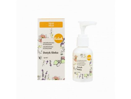 Kvitok Uklidňující olej po opalování Dotek slunce (50 ml) - opečuje pokožku po slunění