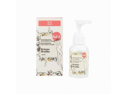 Kvitok Regenerační olej proti striím Krásné bříško (50 ml) - zlepšuje elasticitu kůže