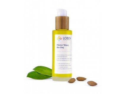 Lobey Pěsticí tělový olej BIO (100 ml) - vhodný i k masáži strií, hráze či prsou