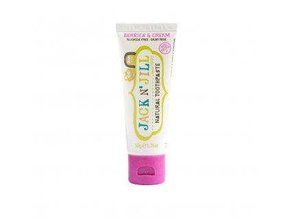 Jack n' Jill Dětská zubní pasta - lesní směs BIO (50 g) - bez fluoru, s bio extraktem z měsíčku