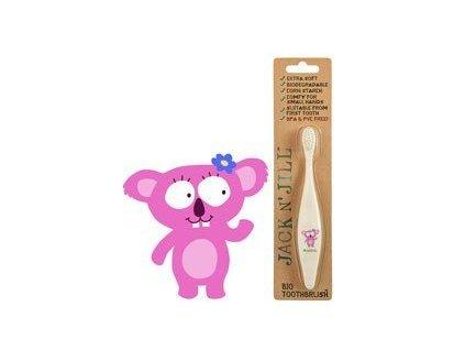 Jack n' Jill Dětský zubní kartáček Koala - z kukuřičného škrobu