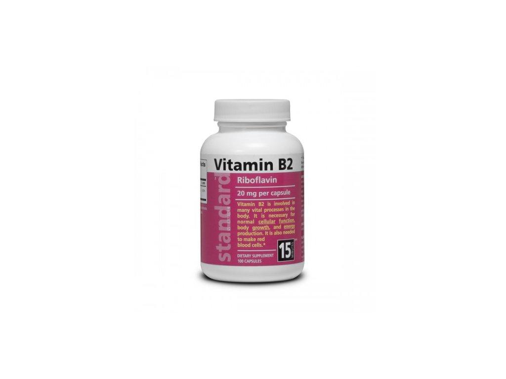 Vitamín B2 Riboflavín 20 mg 100 kapsúl 500x500