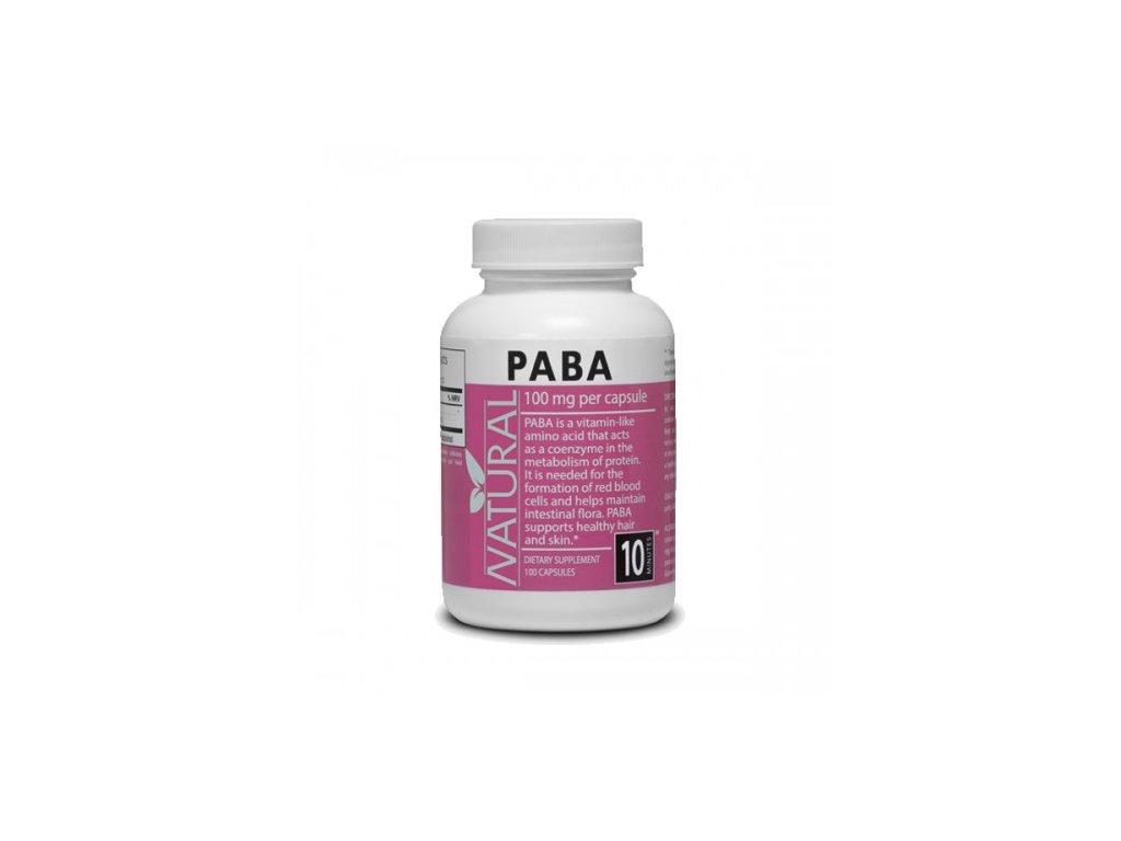 Vitamín B10 PABA 100 mg 100 kapsúl NATURAL 500x500