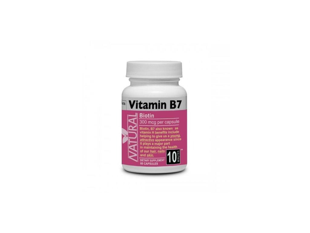 Vitamín B7 Biotín 300 mcg 60 kapsúl NEW 500x500