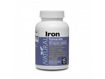 Železo 20 mg 100 kapsúl NATURAL 500x500