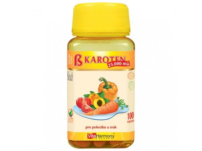 VitaHarmony - Beta karoten 25.000 m.j. (15 mg), 100 tob.
