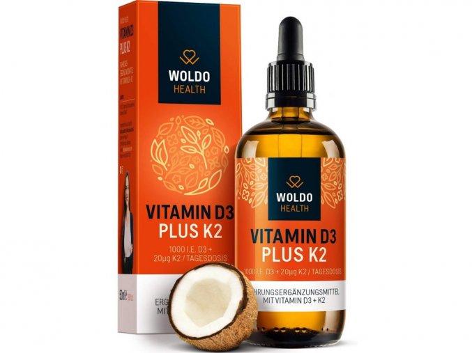 Vitamin D3 + K2 kapky