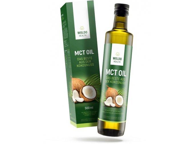 WoldoHealth - MCT olej ze 100% kokosového oleje 500 ml
