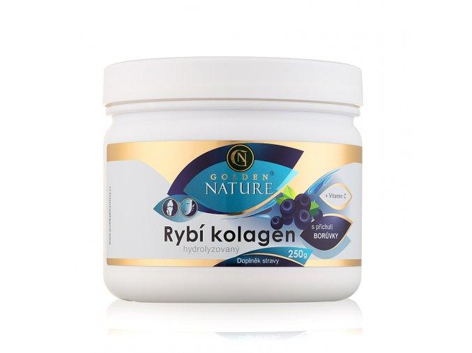 Rybí kolagen a vitamín C Golden Nature (borůvka)