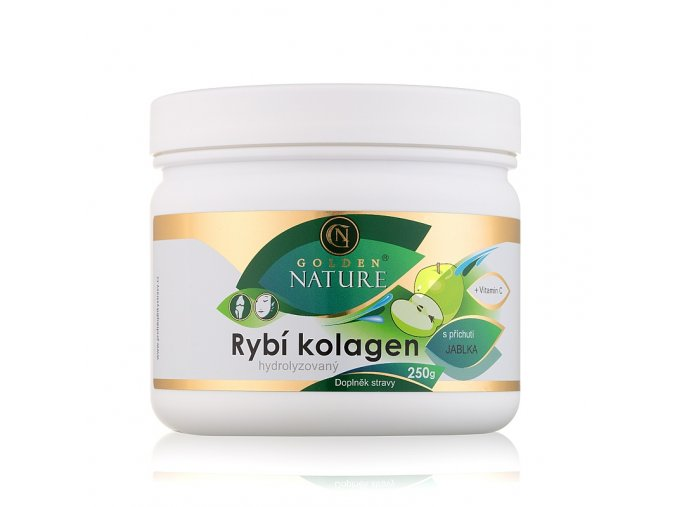 Golden Nature Rybí kolagen+Vitamin C - Jablko 250g
