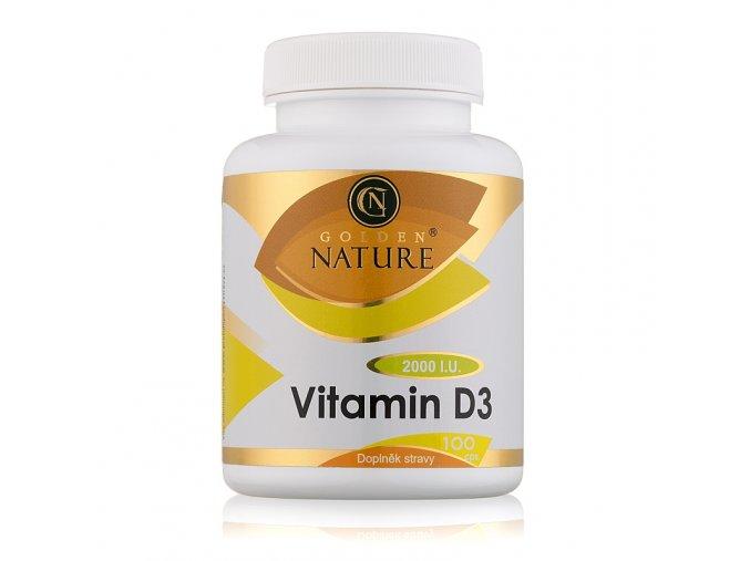 Golden Nature Vitamin D3 2000 I.U. 100 cps.