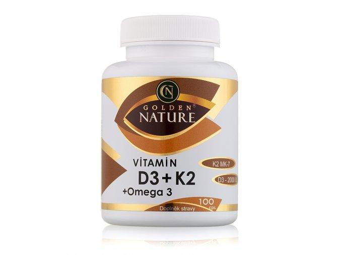Vitamín D3 a K2 Golden Nature