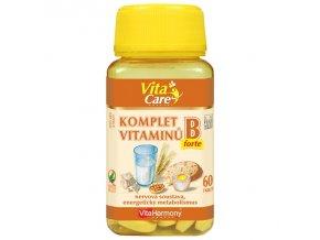 VitaHarmony Komplet vitaminů B forte, 60 tbl.