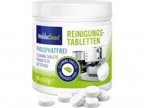 Čistící tablety bez obsahu fosfátů pro kávovary