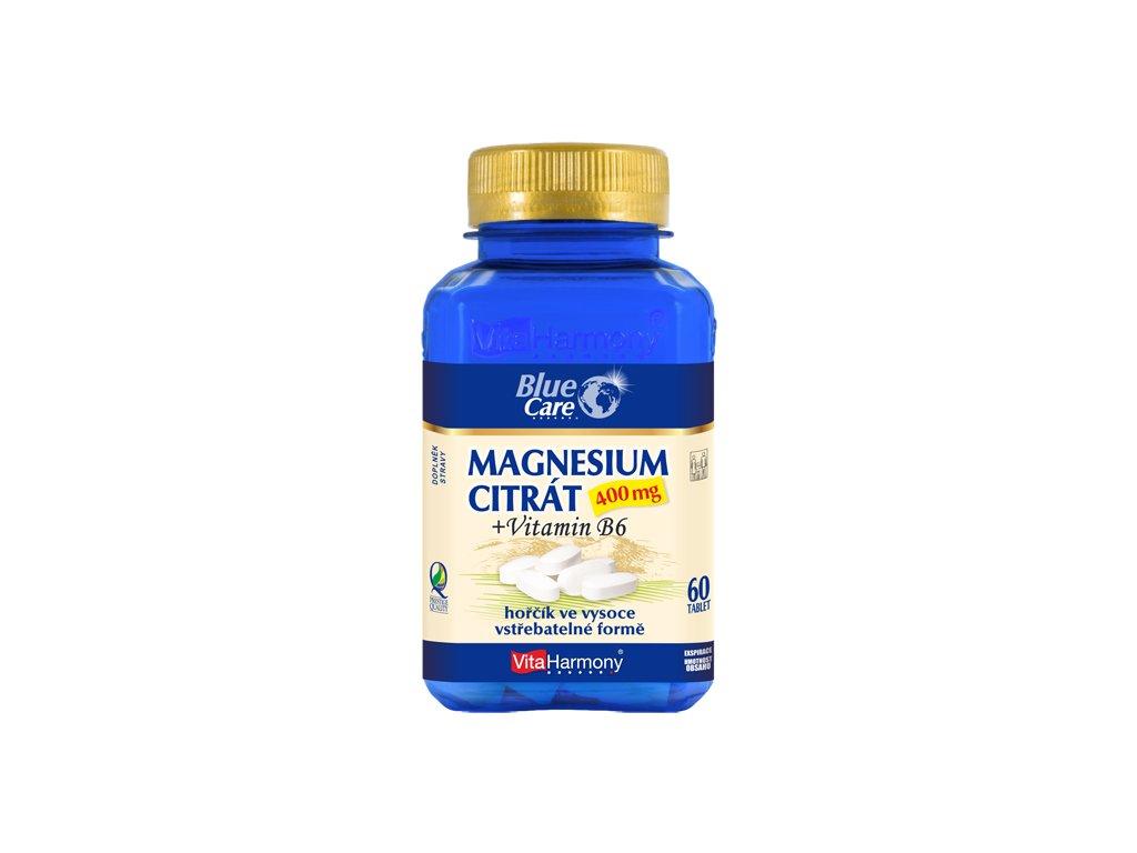 Magnesium citrát 400 mg + vitamin B6 (60 tbl.)