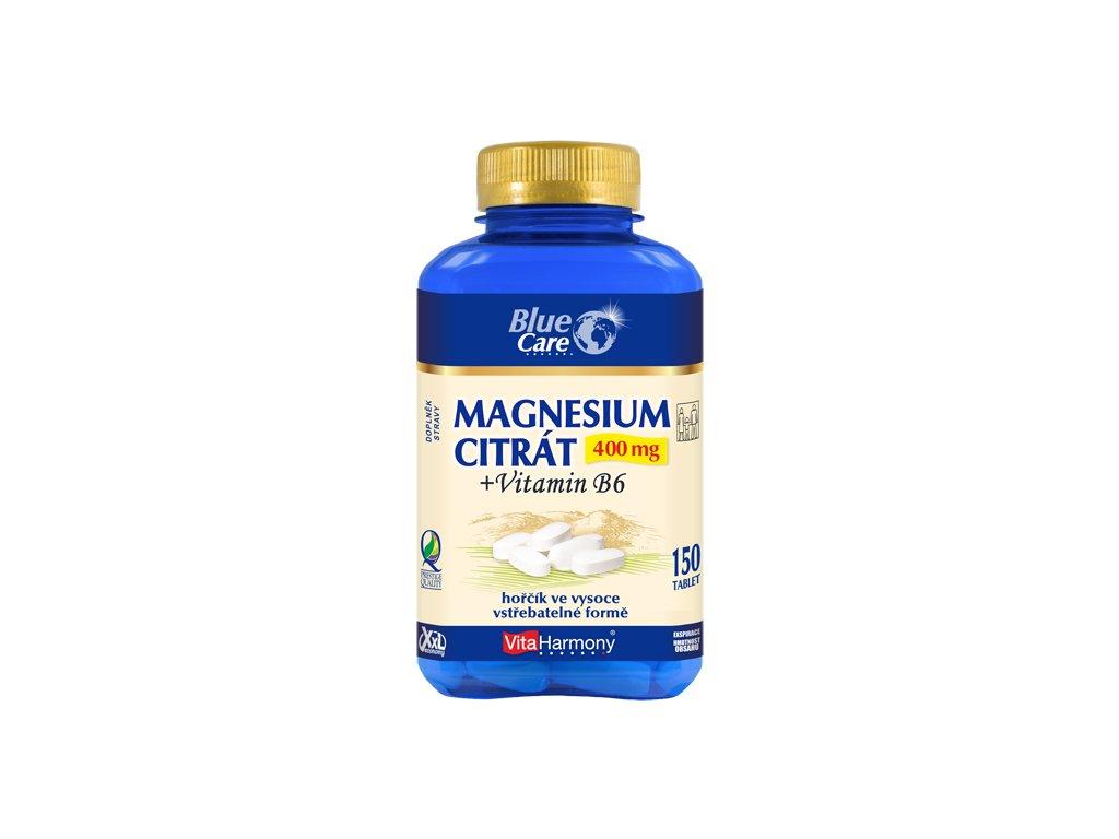 Magnesium citrát 400 mg + vitamin B6 XXL (150 tbl.)