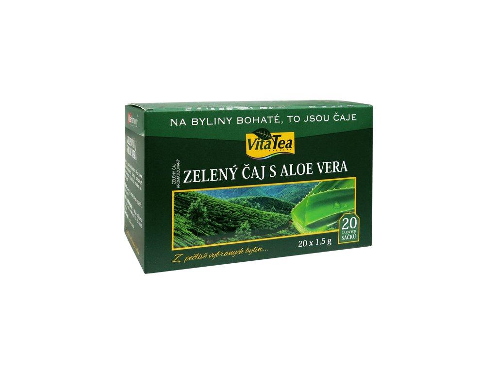 Čaj - Zelený s Aloe vera (20 čaj. sášků)