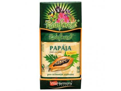 Papája - směs enzymů (90 žvýk. tbl.)
