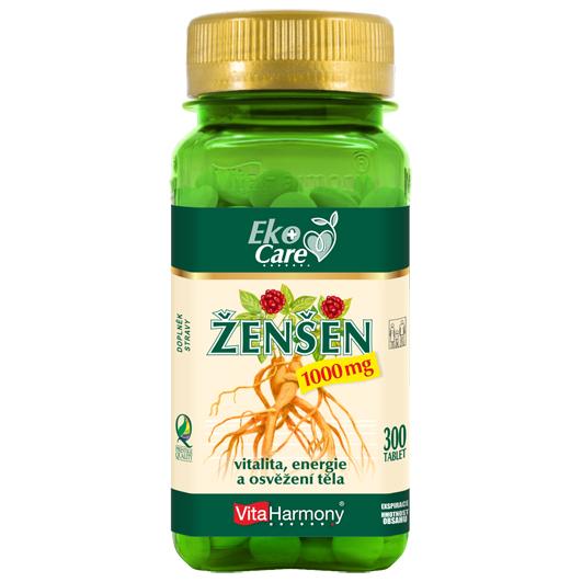 Ženšen 1000 mg (300 tbl.) Eko