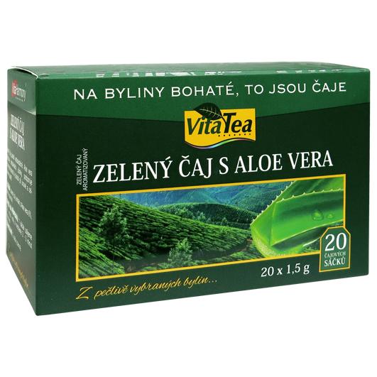 Čaj - Zelený s Aloe vera (20 čaj. sáčků)
