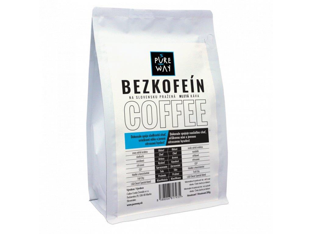 Pureway Bezkofeinova kava 200g mleta
