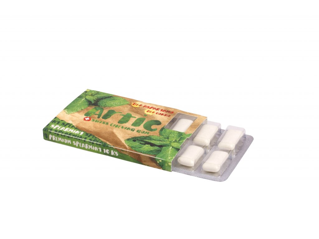 Žuvačky bez aspartamu  Artic Premium Spearmint 10ks