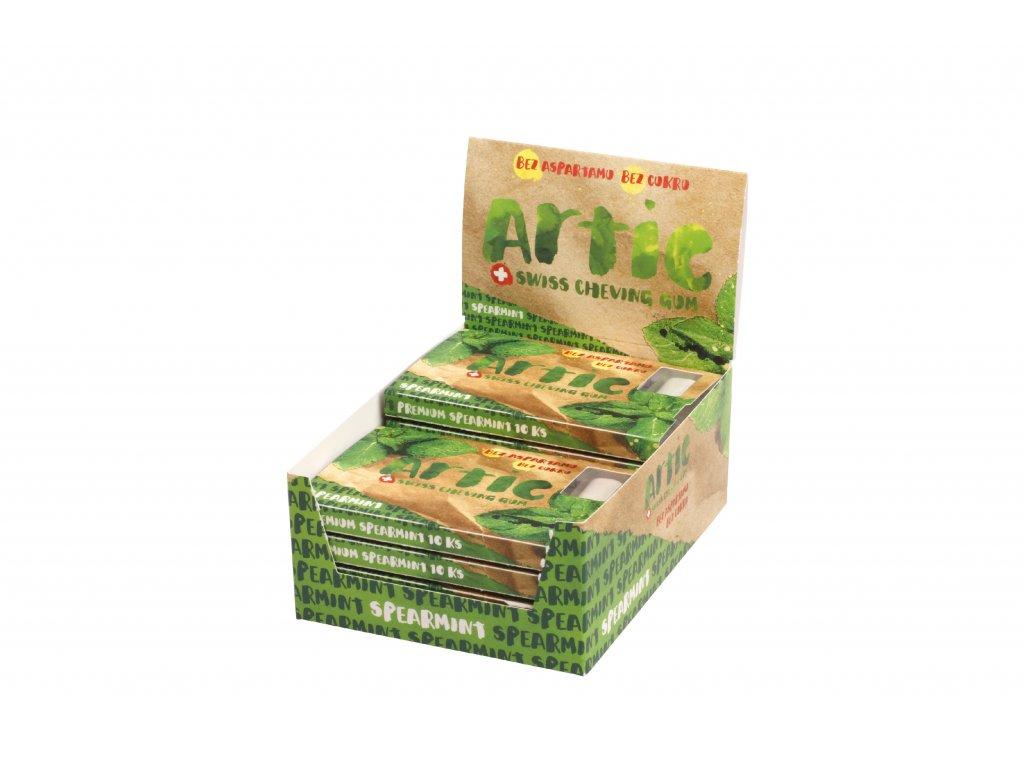 Žuvačky bez aspartamu Artic Premium Spearmint 10x10ks