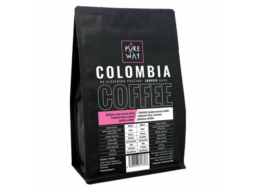 Pureway Colombia 200g zrnková
