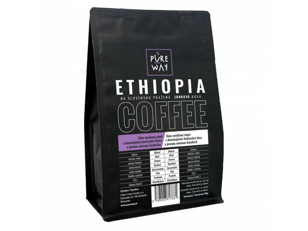 Pureway Ethiopia 200g zrnková
