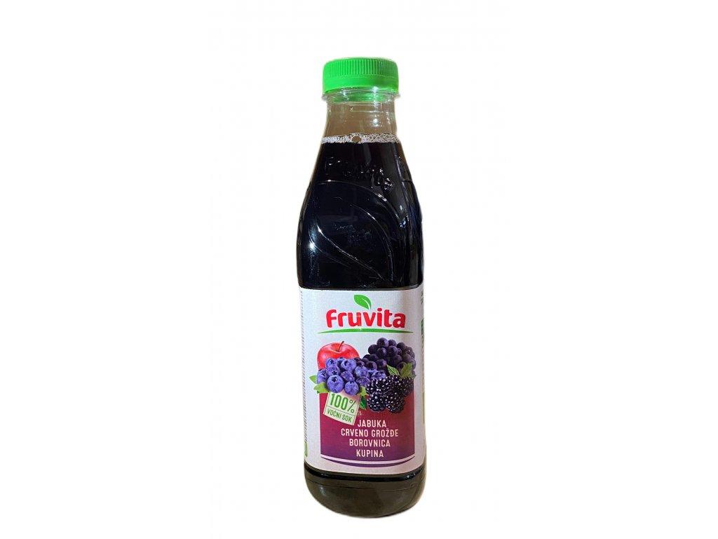 Fruvita Červené hrozno, Čučoriedka, Černica a Jablko, 750 ml