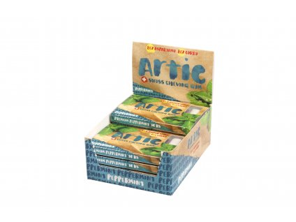 Žuvačky bez aspartamu Artic Premium Peppermint 10x10ks