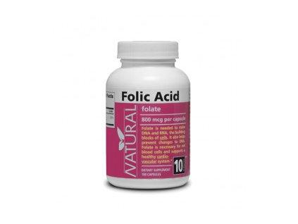 Vitamín B9 Kyselina listová 800 mcg 100 kapsúl
