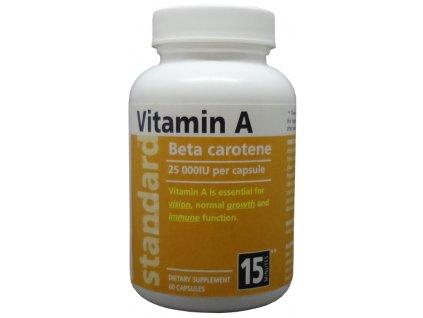 Vitamín A 25 000 IU, 60 kapsúl
