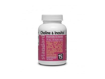 Cholin a Inozitol Bitartrate a inositol 125 mg + 125 mg 100 kapsúl 295x275