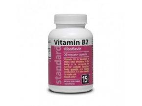 Vitamín B2 Riboflavín 20 mg 100 kapsúl 295x275