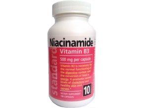 Vitamín B3 Nikotínamid 500 mg, 100 kapsúl