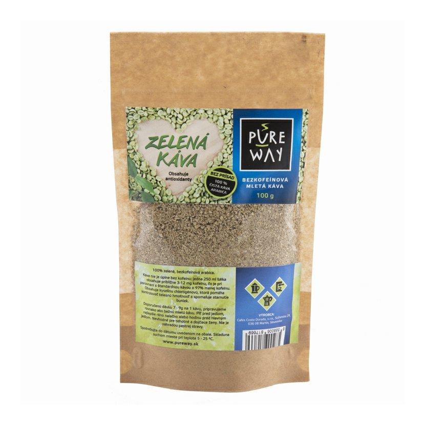 Pure Way 100% Zelená bezkofeínová káva 100g