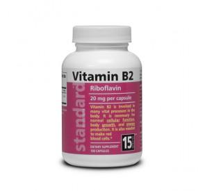 NuLab Vitamín B2, 20mg, 100 kapsúl