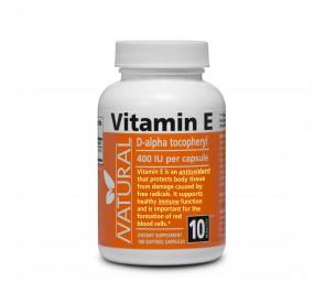 NATURAL Vitamín E 400 IU prírodný, 100 kapsúl