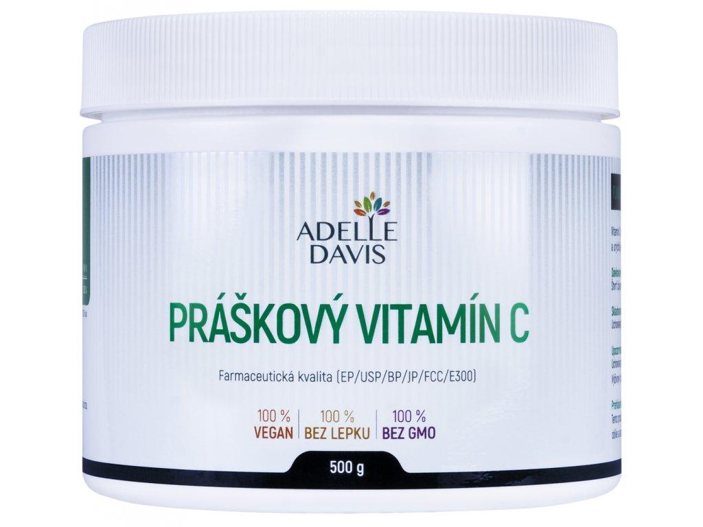 Adelle Davis - Vitamín C, práškový, 500g